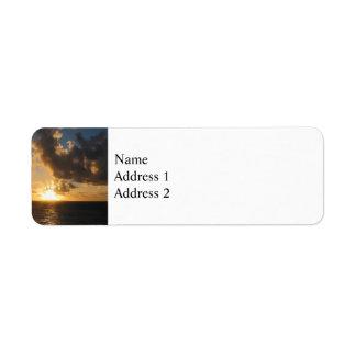 Sunrise With Clouds St. Martin Return Address Label