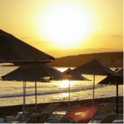 Sunrise with Greece Beach Acrylic Cut Outs