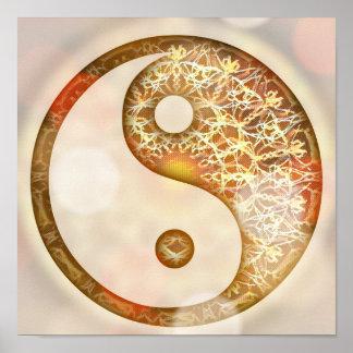 Sunrise Yin Yang Mandala Poster