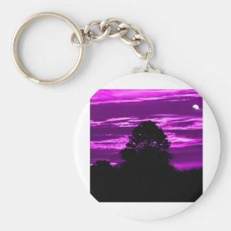 sunrises-mornings basic round button keychain