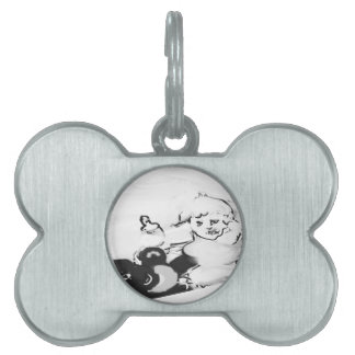 sunriseteddyhorizonsignedblkandwhit pet name tag