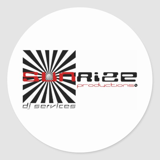 sunrize productions classic round sticker