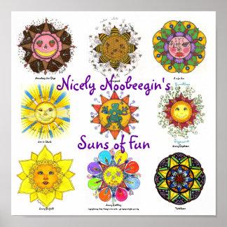Sun's of Fun (purple) Poster