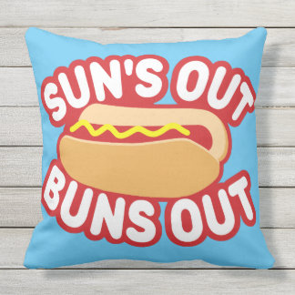 Suns Out Buns Out Outdoor Pillow