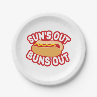 Suns Out Buns Out Paper Plate