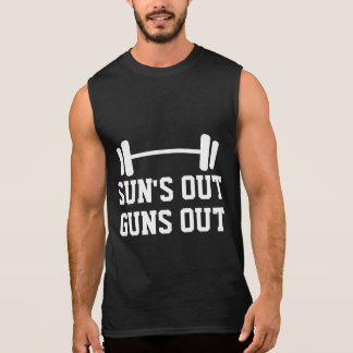 Sun's out gun out sleeveless tank top for men