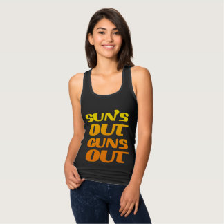 Suns Out Guns Out Fitness and Gym Tank Top