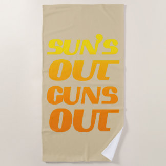 Sun's Out Guns Out Fun fitness and gym Beach Towel