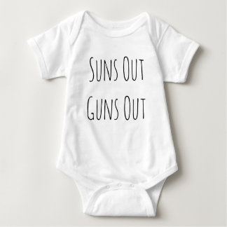 Suns Out Guns Out Funny Baby Clothes Baby Bodysuit