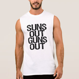 Suns out Guns out funny men's tank top