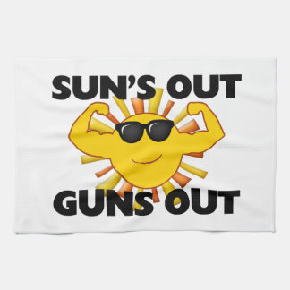 Sun's Out Guns Out Kitchen Towel