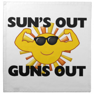 Sun's Out Guns Out Printed Napkins