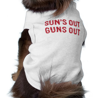 Suns Out Guns Out Red Pet Clothes
