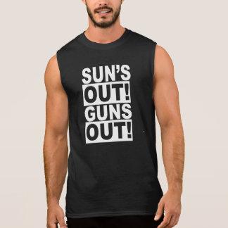 SUN'S OUT! GUNS OUT! SLEEVELESS SHIRT