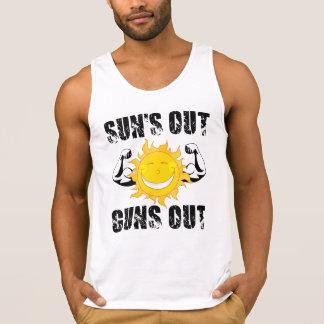 Suns Out Guns Out Summer beach Tanktops