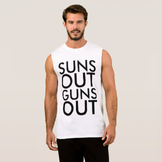 SUNS OUT GUNS OUT Tank tops