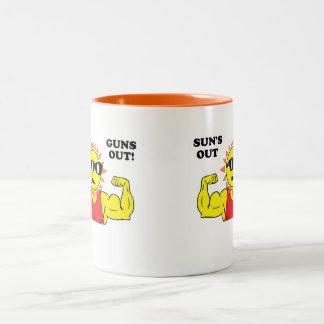 Sun's Out Guns Out! Two-Tone Coffee Mug