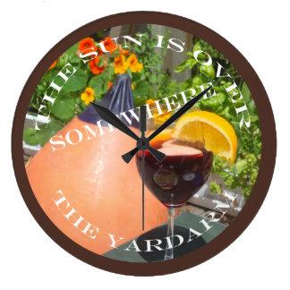 Sun's Over the Yardarm Large Clock