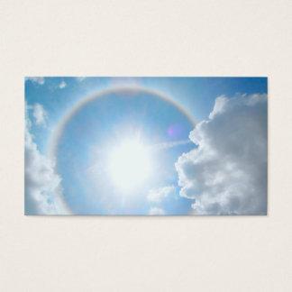 Sun's Rainbow Halo Business Card
