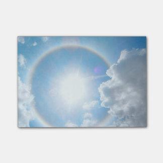 Sun's Rainbow Halo Post-it Notes