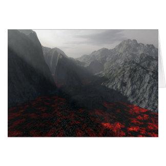 sun's rays thru volcanic haze greeting card