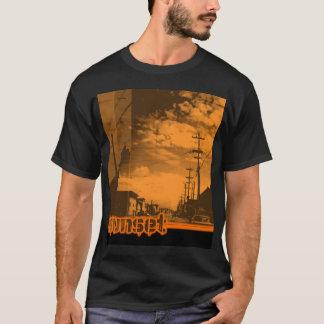 sunset7 - on Black T-Shirt