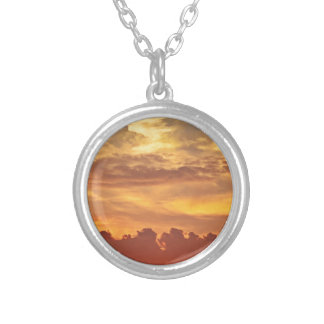sunset-1643705 silver plated necklace
