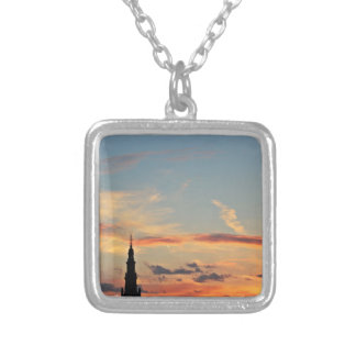 sunset-1643769 silver plated necklace