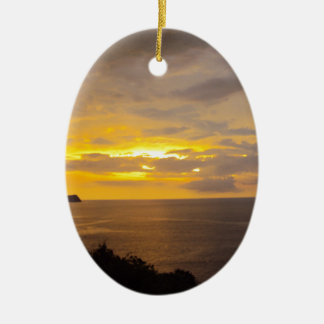 Sunset 2 Costa Rica Ceramic Ornament
