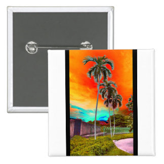 sunset 2 inch square button