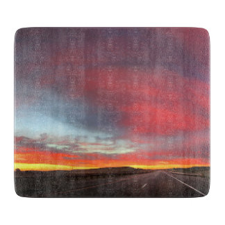 Sunset 4 cutting board