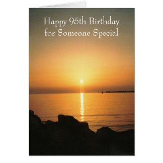 Sunset 95th Birthday Card