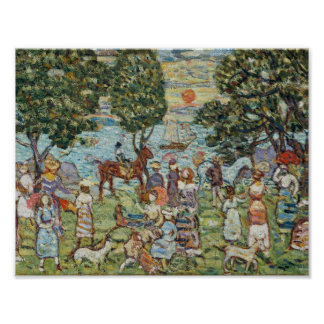 Sunset about 1915–18 Maurice Brazil Prendergast (A Poster