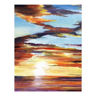 Sunset Acrylic Painting Letterhead