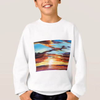 Sunset Acrylic Painting Sweatshirt