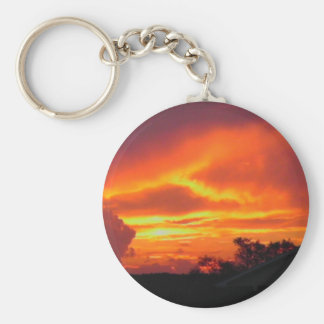 Sunset After the Storm Basic Round Button Keychain