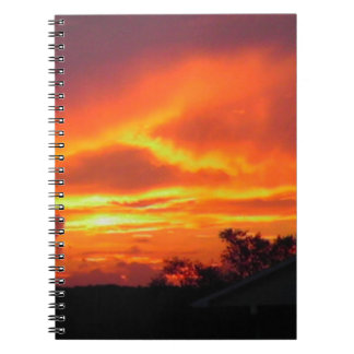 Sunset After the Storm Spiral Note Book
