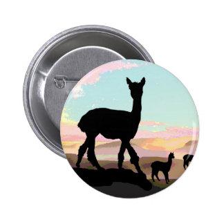 Sunset Alpacas Pinback Button