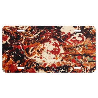 SUNSET (an abstract art design) ~ License Plate