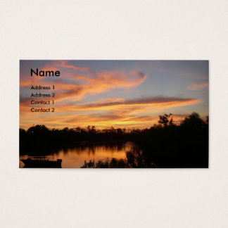 Sunset and Boat Business Card
