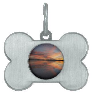 Sunset and Clouds Pet ID Tag