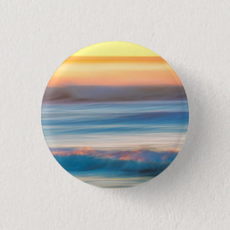 Sunset and Ocean   Cape Disappointment State Park 1 Inch Round Button