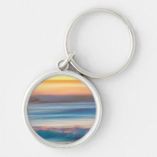 Sunset and Ocean | Cape Disappointment State Park Keychain