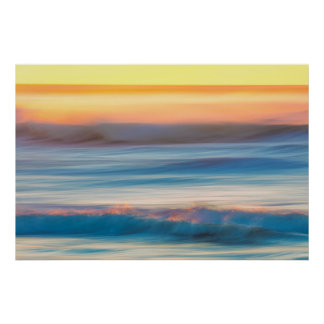 Sunset and Ocean | Cape Disappointment State Park Poster