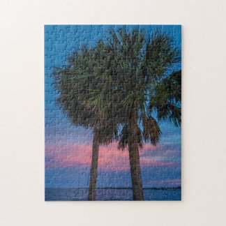 Sunset and Palm Trees puzzle