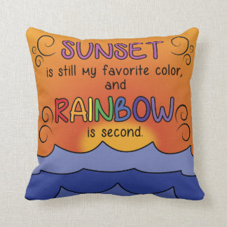 Sunset and Rainbow Pillow