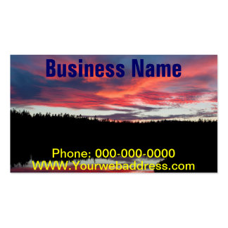 Sunset and Seawall Pond Acadia National Park Business Card