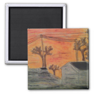 Sunset and shadows magnet