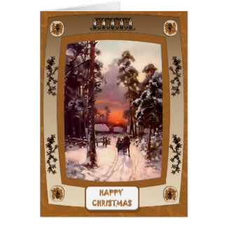Sunset and snow cards