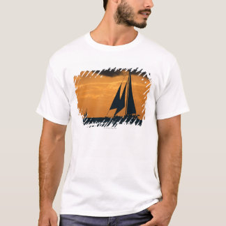 Sunset and Yacht T-Shirt